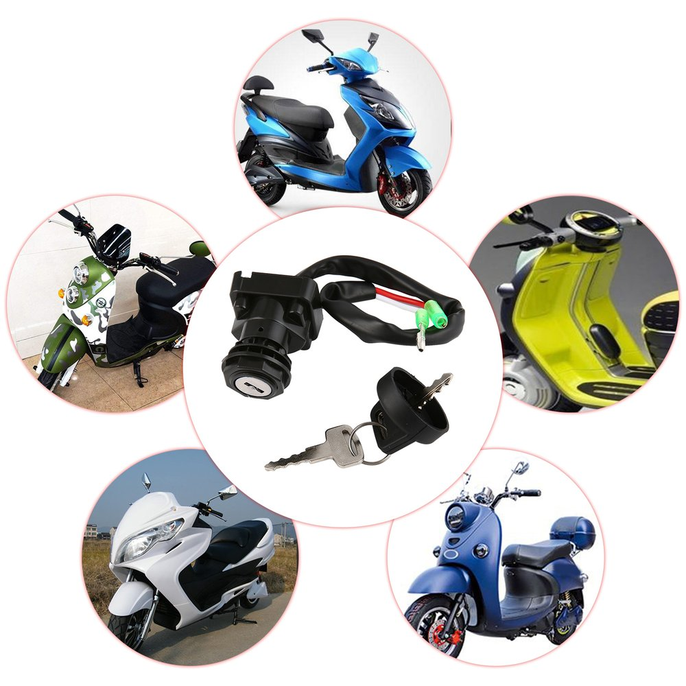 TRX650FA Universal Anti-Theft Electric Motorcycle Lock Stainless Steel Cable Coil For 2003-2005 Electric Motorcycle