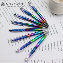 NORRATH Stationery Multicolor Metal Ballpoint Pen Luxury School Supplies Office Accessories Oily Refill 1.0