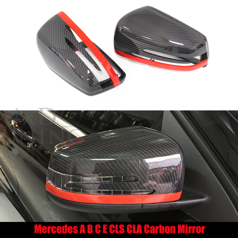 1:1 Replacement For Mercedes W204 Mirror A C E S CLS Class W204 W207 W212 W176 W218 W221 Carbon Fiber Rear View Mirror Cover