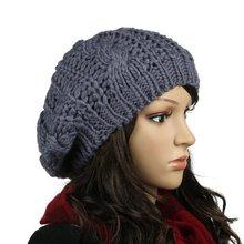 HOT Braided Baggy Beanie Crochet Knitting Warm Winter Wool Hat Ski Cap for Women цена
