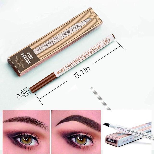 4 Colors 4 Head Henna Eyebrow Pencil Microblading Eye Brow Pen For Brwi Eyebrows Shades Makeup Cosmetics Sourcil Eyebrow Tatto Pencil Eyebrow Henna Makeup Tools 4