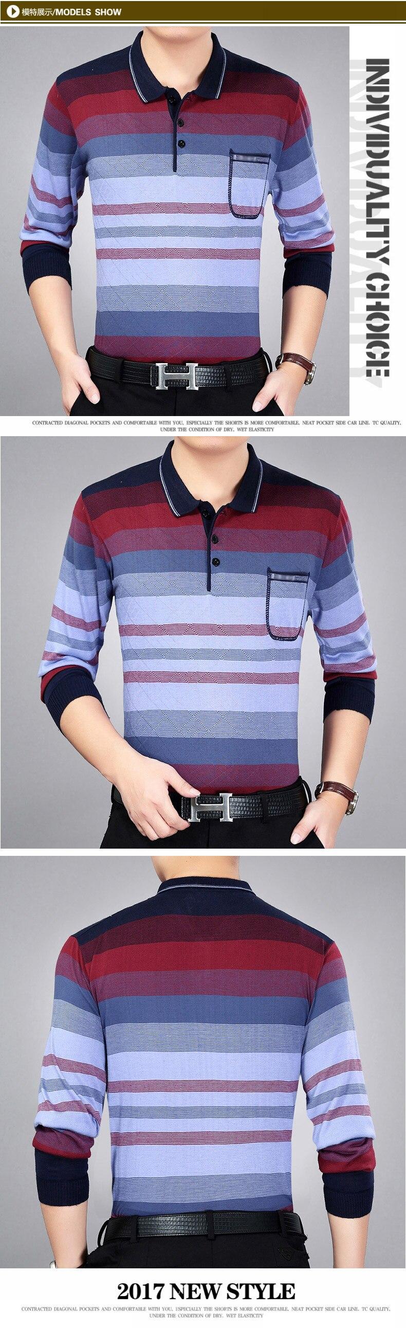 WAEOLSA Men Casual Shirt Turn Down Top Cross Stripe Man Blue Red Blouses Male Gradual Color Shirts Man Leisure Shirts (3)