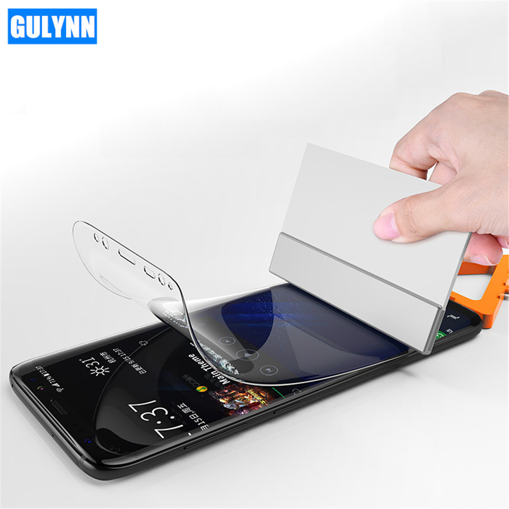 GULYNN 3D Protection Film For Samsung Galaxy S8 S9 Plus S6 S7 Edge Soft Full Curved Screen Protector Film For Samsung Note 8
