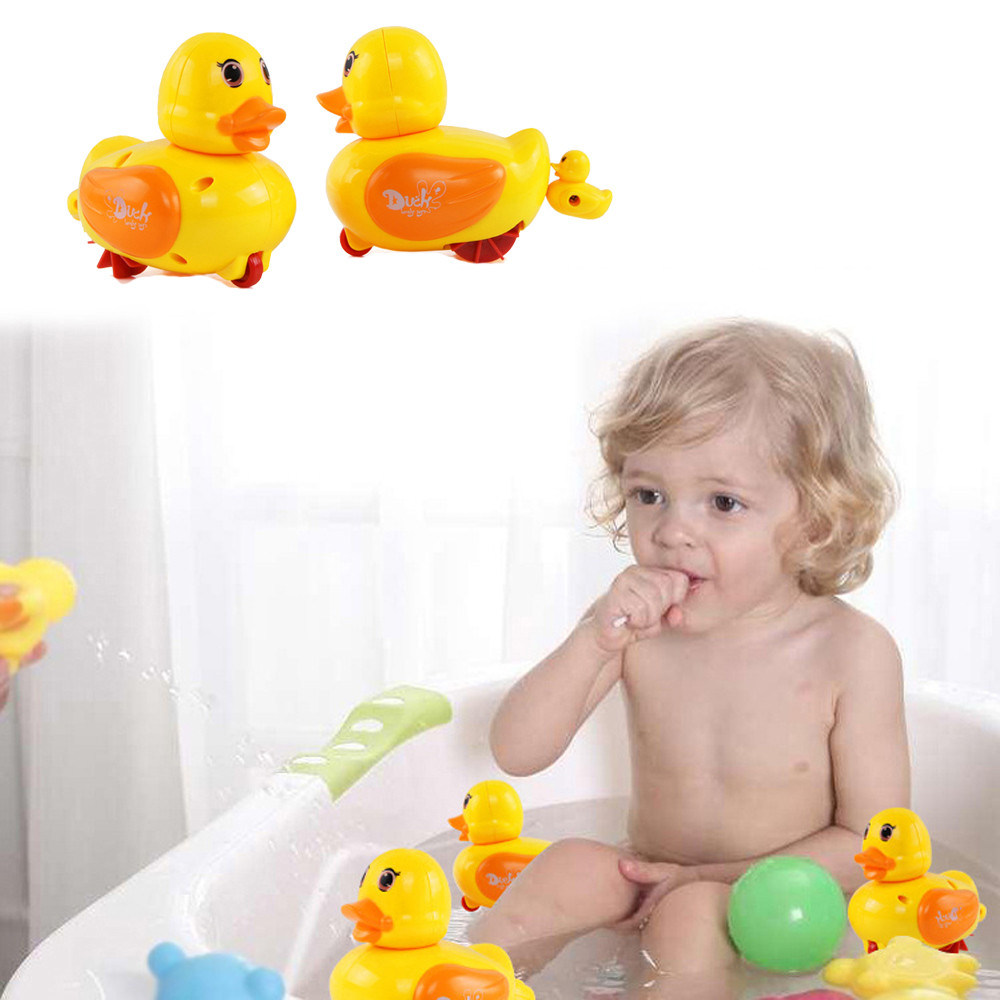Animal Educational Toy Little Yellow Duck Baby Bath Swimming Play Water Toy Bath Toy For Kids Summer Beach Toy 30S876 wholesale