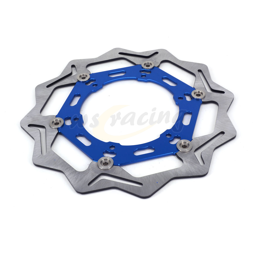 270MM Motorcycle Front Wavy Floating Brake Disc Rotor For YAMAHA YZ250 YZ250F YZ426F YZ450F WR250 WR250F