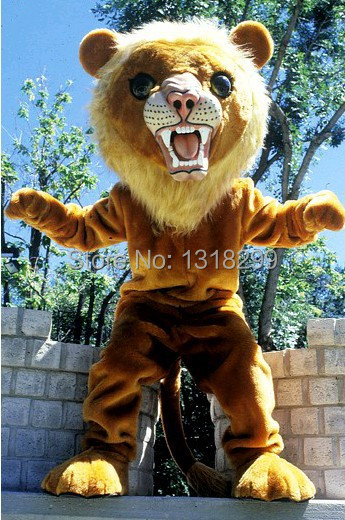 Ambitieus Mascotte Grote Kat Lion King Mascot Kostuum Kostuum Fancy Kostuum Cosplay Thema Mascotte Carnaval Kostuum Kits Exquisite Traditional Embroidery Art