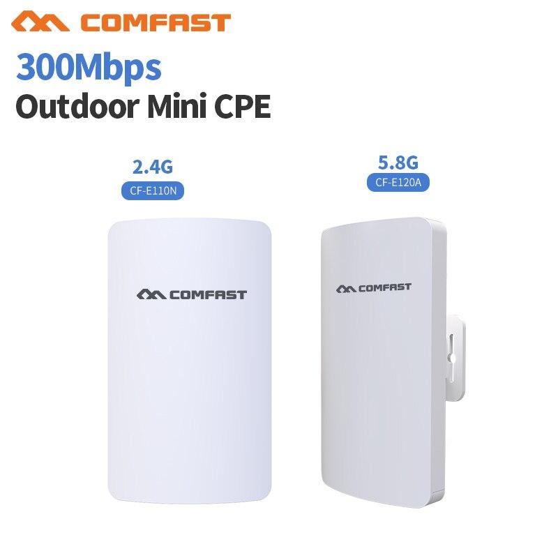2.4 & 5G Mini Sans Fil WIFI Routeur Répéteur Longue Gamme cpe 3 KM 300 M Extérieure AP Routeur CPE AP Pont Client Routeur Soutien OpenWRT