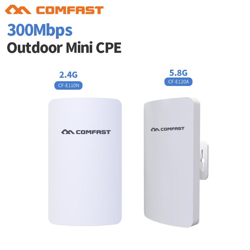 цены 2.4& 5G Mini Wireless WIFI Router Repeater Long Range cpe 3KM 300M Outdoor AP Router CPE AP Bridge Client Router Support OpenWRT