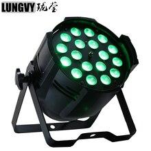 Free Shipping 18x18w RGBWA UV 6IN1 Zoom Led Par Light LED Stage Theatre Bright Zoom Par Can DMX512 Dj Lighting