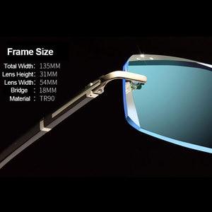 Image 2 - Fashion Eyeglasses A001 Diamond Trimming Cutting Rimless Eyeglasses Prescription Optical Glasses Frame for Men Eyewear