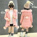 Fantasy Pink Girl's Jacket Coat Fashion Kids Girl Warm Winter Coat Thick Children Girl Jacket Hooded Jacket Child Outerwear