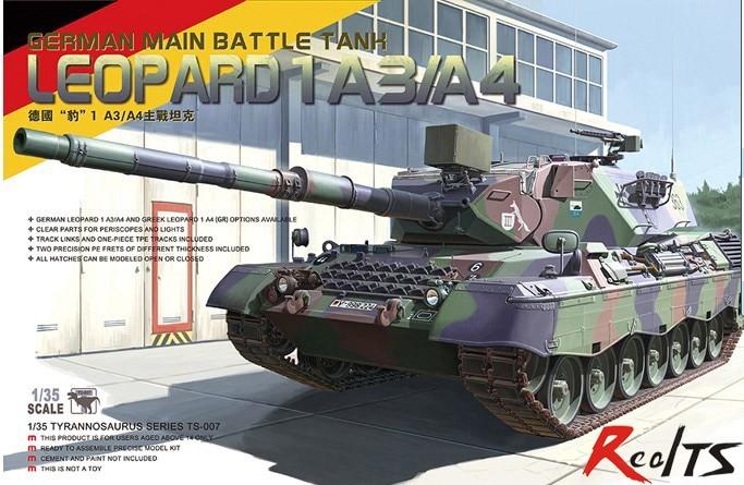 Meng Model TS-007 1/35 German LEOPARD 1A3/A4 Tank Plastic Model Kit