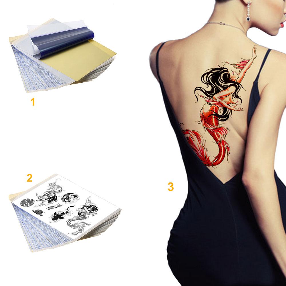 25pcs tattoo supply carbon thermal stencil tattoo transfer for Tattoo transfer paper