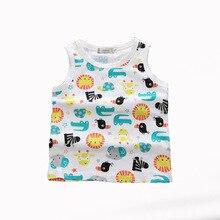 Летняя верхняя одежда для маленьких девочек хлопковая майка, жилет повседневное нижнее белье на бретелях для маленьких мальчиков, футболка Детские майки, одежда по акции