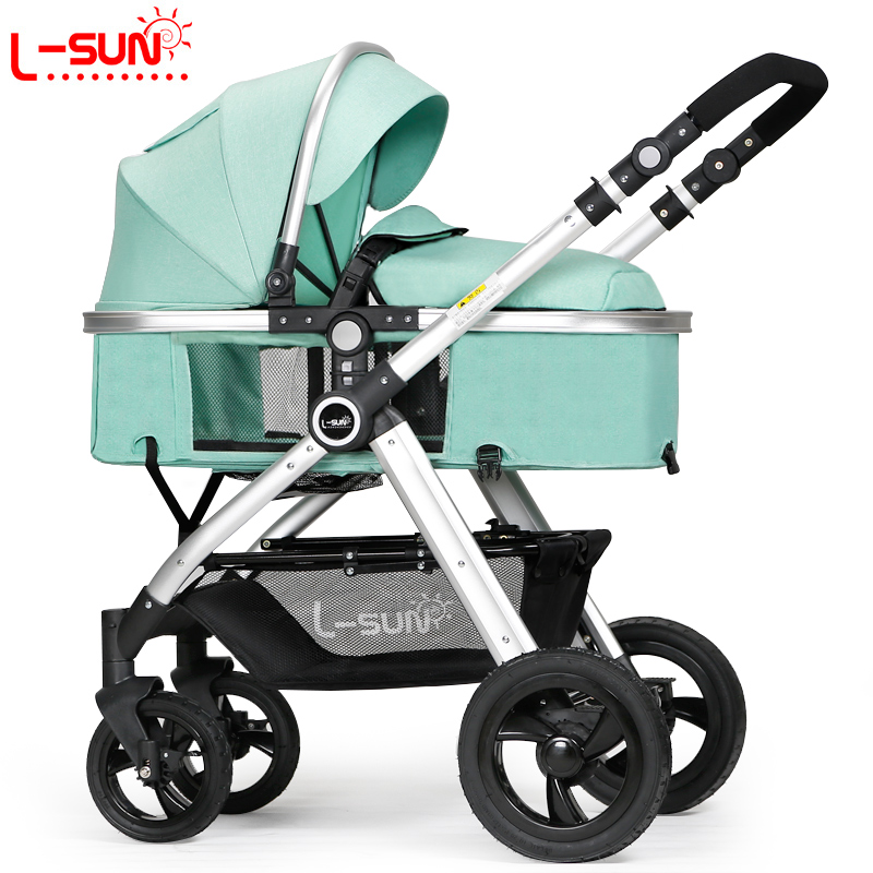 Small Sun Baby Stroller Can Sit and Lie Down Flat Summer Two-way Portable High Landscape Trolley Light Folding bcdz high landscape twin baby stroller can sit lie down light summer folding carriage carrier