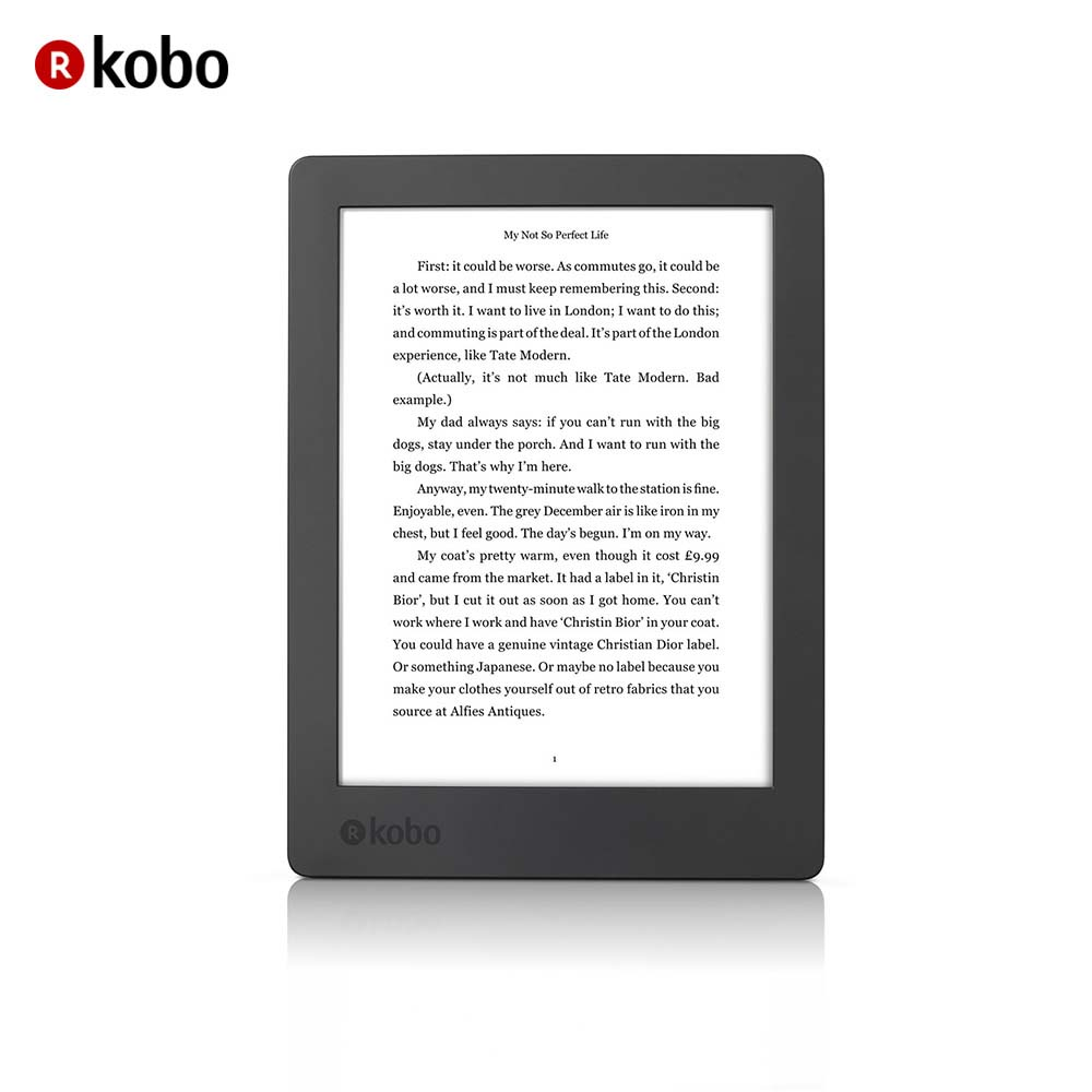 "eReader Kobo Aura H2O 2nd Edition 6.8"" Touch Waterproof Ebook reader 8GB WiFi High-Resolution Display 1440 x 1080 pixels"