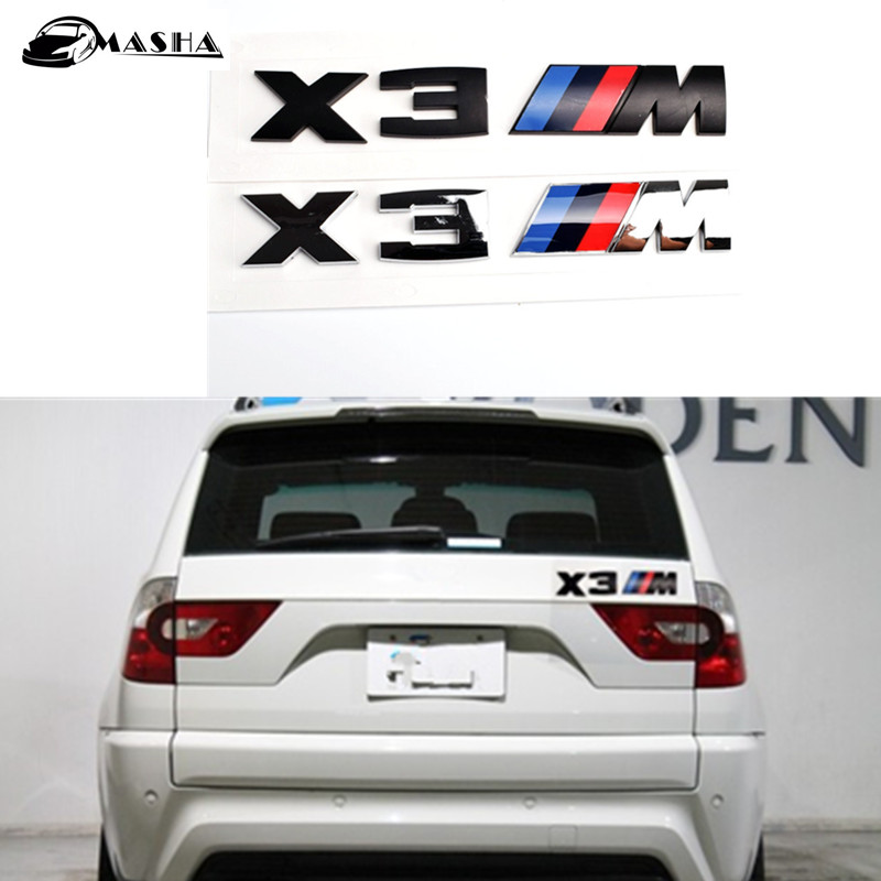 Free Shipping 1PCS 3D Chromium car Styling X3 Logo Emblem Badge Sticker Decoration For BMW X3 E83 F25 Accessories auto chrome camaro letters for 1968 1969 camaro emblem badge sticker