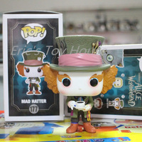 New Funko pop Original Alice in Wonderland Mad Hatter Figure Hot Movie Collectible Vinyl Figure Model Toy with Original box