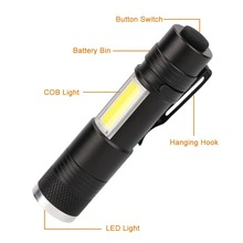 Portable Mini Pocket Penlight COB LED 4 Lighting Modes