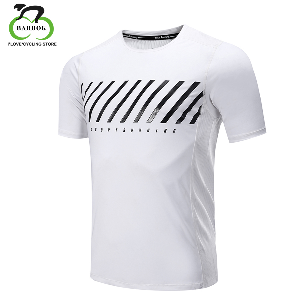 BARBOK Quick Dry Loose Fit Mens Short Sleeve T-Shirts Running T Shirt Fitness Tennis Soccer Jersey Gym Sportswear