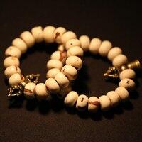 祝福ブレスレット チベット菩提種子ドルジェ ベル ブレスレット仏教ビーズ ブレスレット手首マラ