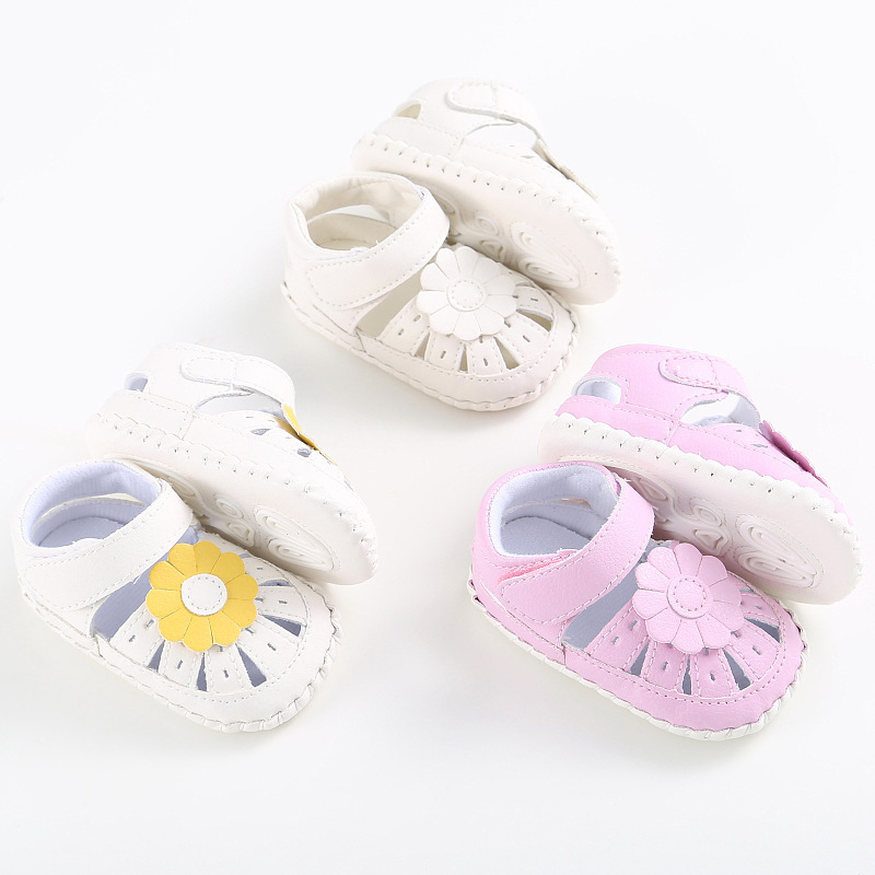 8294fa0abfbb Raise Young Summer PU Leather Baby Girl Sandals Flower Hollow Soft Soles  Toddler Girl Shoes Newborn Infant Footwear 0 18M-in Sandals   Clogs from  Mother ...