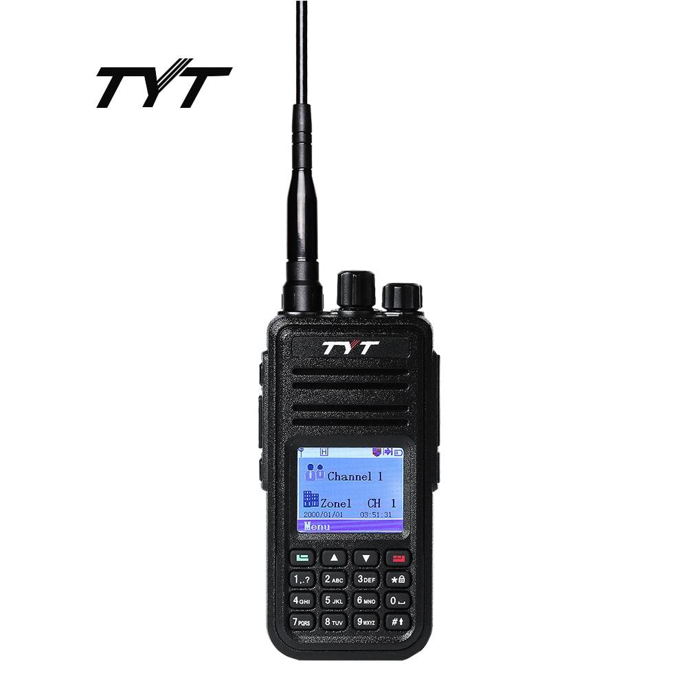 TYT MD-380 Walkie Talkie DMR Digital Mobil Radio UHF 400-480MHz MD380 Radio Programmeringskabel & CD