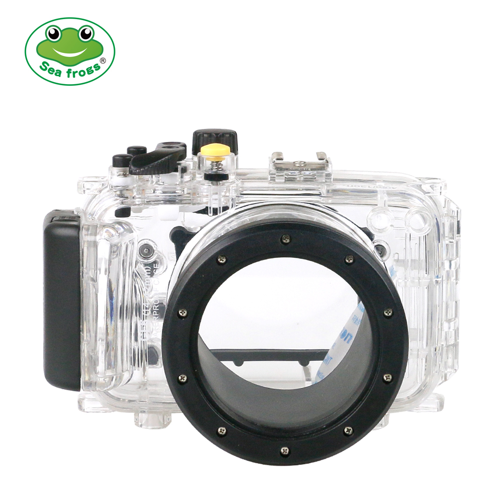 For Panasonic GF6 Camera 14-42mm Waterproof Housing Underwater Sport Scuba Diving Photography Camera Protect Cover Box + Glasses image
