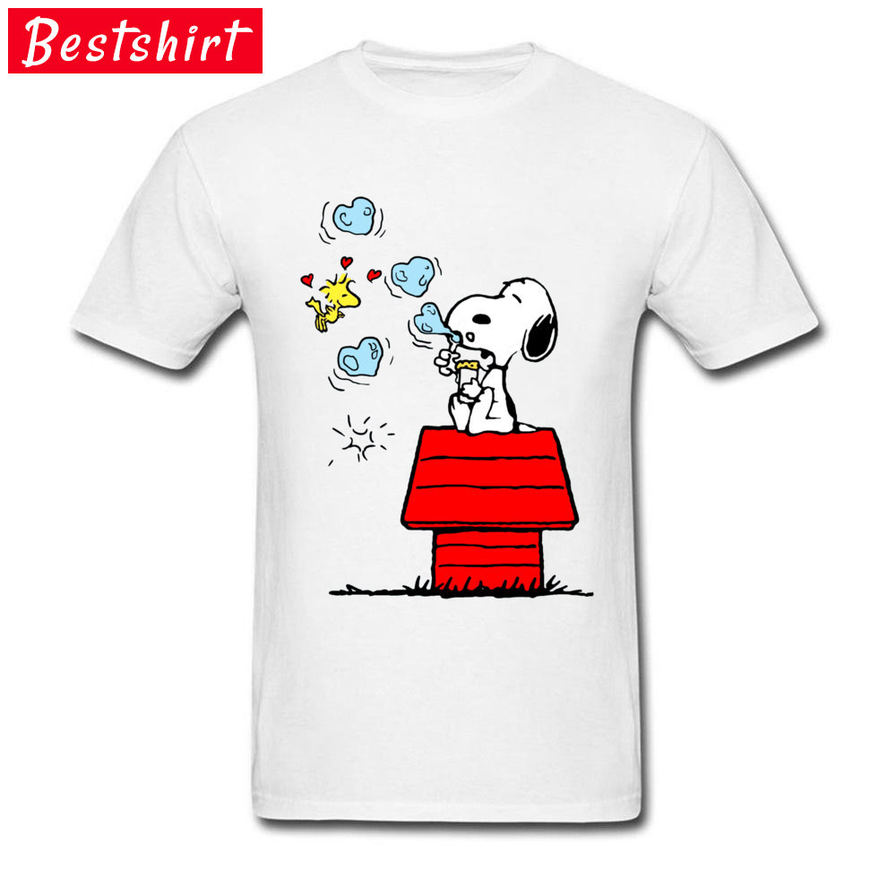 Peanuts Woodstock Comic Tshirts Rock Music Cartoon Print T-Shirts Kawaii Dog Happy Tee Shirt For Boy Top Quality Sweatshirt
