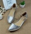 Бесплатная доставка удобные плоские туфли Балетки обувь большого размера обуви квартир Женщин-668-30