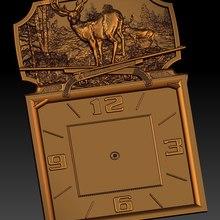Digital file in STL format clock for CNC 3D relief carving engraving C36-11
