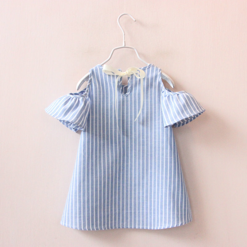 Hurave-Casual-Baby-Girl-Clothes-Summer-Dress-2017-Fashion-Girls-Cotton-Striped-Dresses-Children-Clothes-Girl-Vestidos-Robe-Fille-1