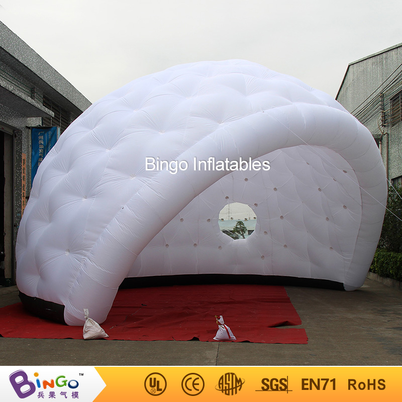 все цены на Free delivery igloo dome inflatable yurt tent hot sale nylon material golf shape blow up igloo dome tent toy tents