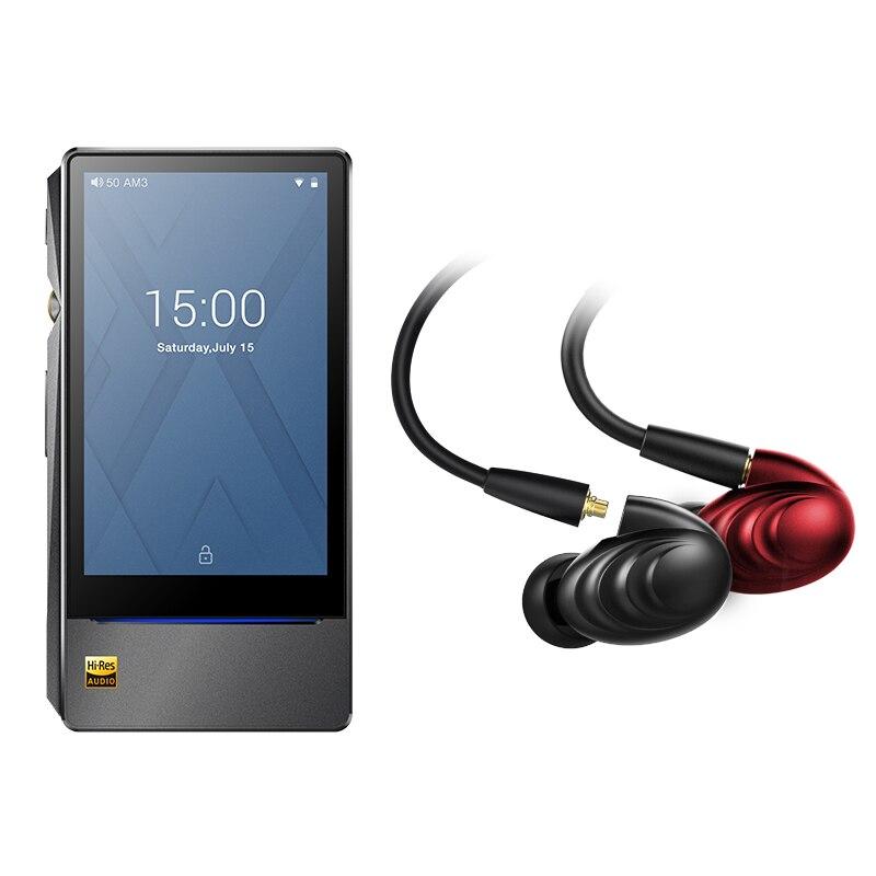 Bundle Vendita di FiiO basati su Android del giocatore di Musica di X7 II con equilibrio am3a con FiiO Tripla Driver Ibrido In-Ear cuffia F9