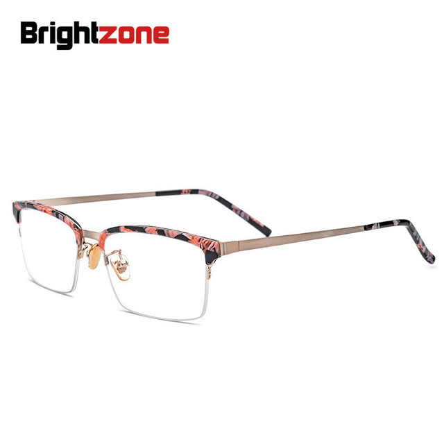 Brightzone Italy New Design Acetate Semi rimless Plain Spectacles ...