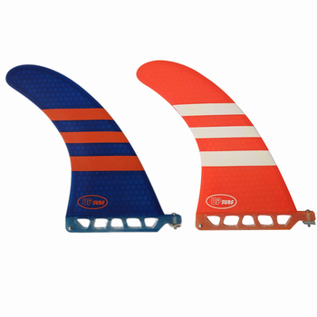 Surf Longboard Fins Fiberglass Honeycomb 6/7/8/9 Length  Fin 2 color Surfboard 6/7/8/9/
