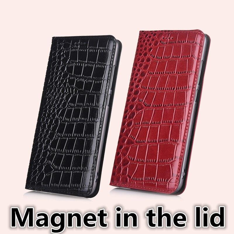 "Ch11 Echtem Leder Magnet Flip Fall Mit Karte Halter Für Sony Xperia L3 (5,8 "")) Fall Für Sony Xperia L3 Telefon Fall"