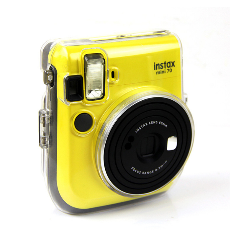Bag-Shell Case Camera-Accessories Transparent Fujifilm Instax Instant Mini70 for Crystal