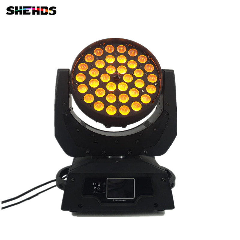 LED 36x18w RGBWA+UV Zoom Moving Head 6in1 lyre Led Wash DMX 512 factory directly sale Dj Disco Stage Lighting
