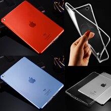Para Apple iPad Air 1/Aire 2 TPU Suave Transparente Delgada Clara Protector de La Piel Para el ipad 5/6 de la Tableta de 9.7 pulgadas Caso de La Contraportada