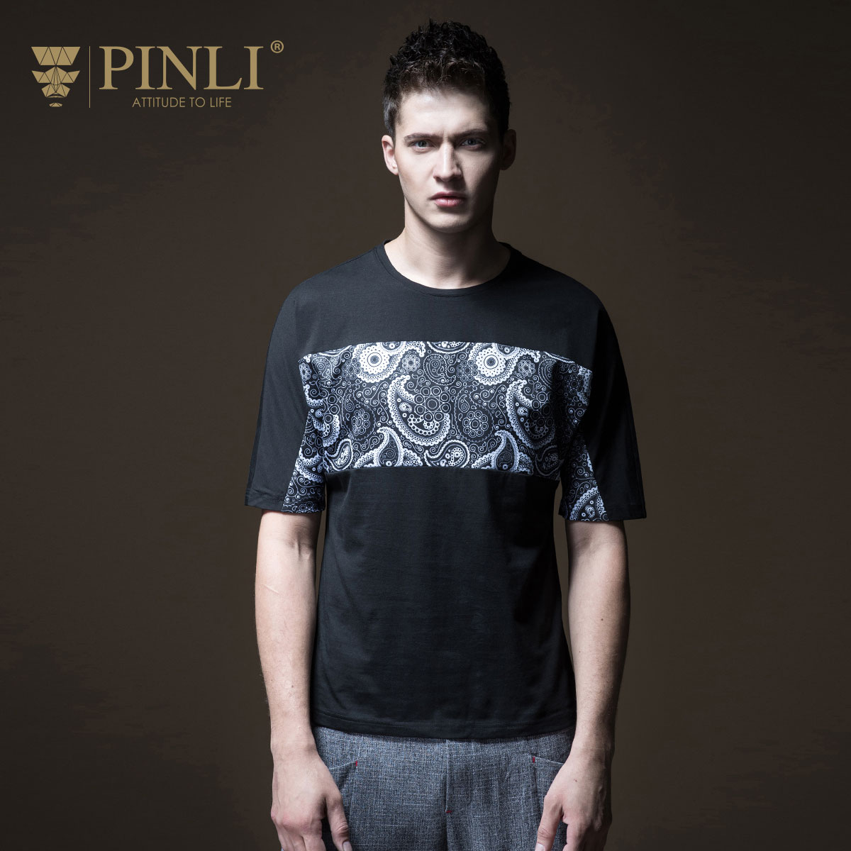 Dragon Ball Rushed Palace Pinli Pin Li 2018 Summer New Men's Dress, Slim Neck, Printed And Short Sleeved T-shirt, B182511352