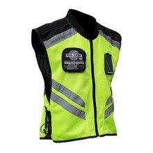 Светоотражающая защитная одежда для мотоцикла отражающая гоночная Защитная жилетка видимость Защитная ткань для двигателя