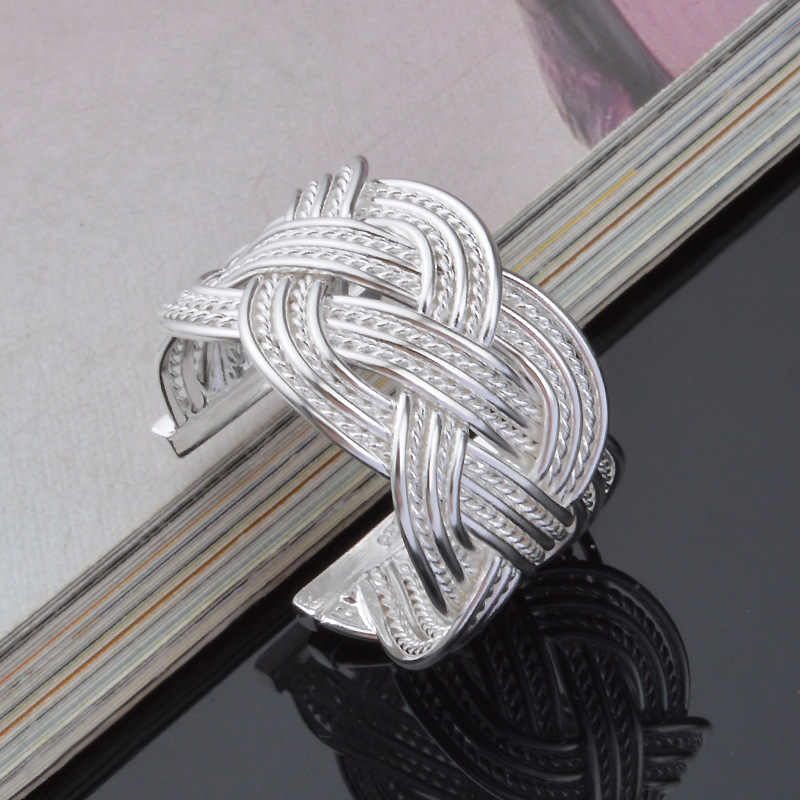 Vòng cổ điển 925 Sterling Bạc Trang Sức Nhẫn Đối Với Phụ Nữ Người Đàn Ông Anillos Mujer Bague Anel Feminino Bague Femme Anelli Ringen