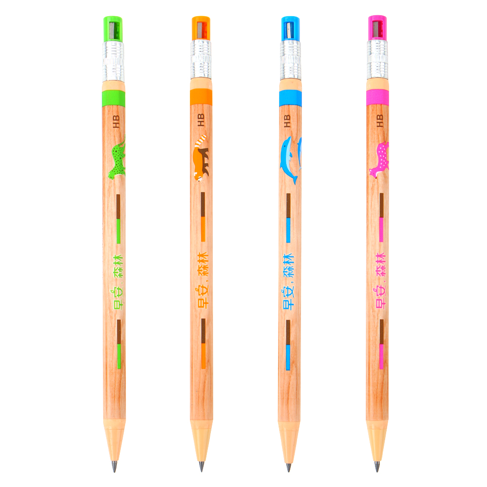 4Pcs/set Art Black Lead Holder Mechanical Pencil 2.0mm Sketch Special Drawing School Supplies Stationery