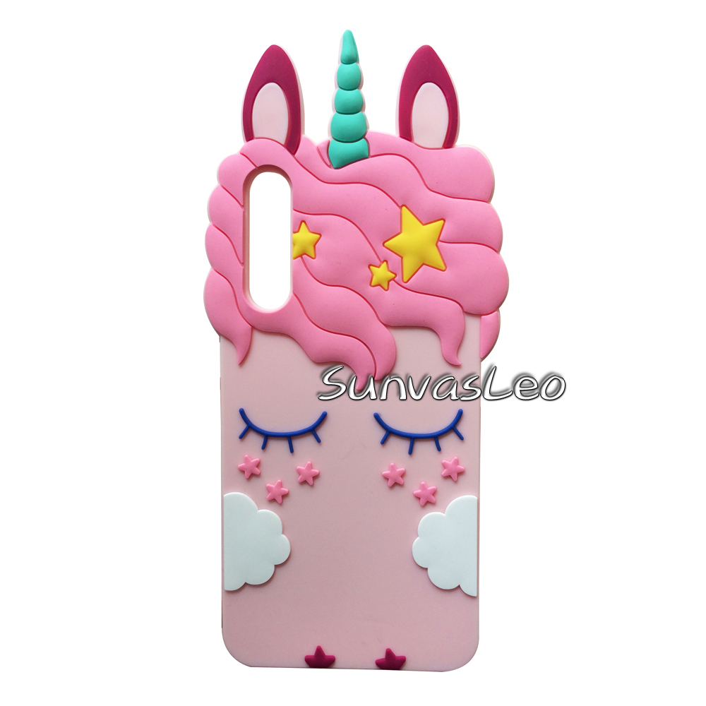 For Huawei P20 Pro 6 1 quot 3D Case Cartoon Unicorn Soft Silicone Cell Phone Cover Shell Skin Fundas Coque Capa Shockproof Cases in Half wrapped Cases from Cellphones amp Telecommunications