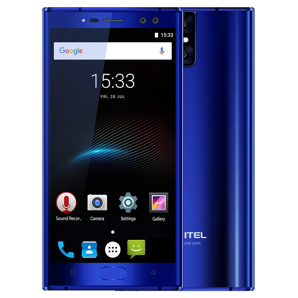 Original OUKITEL K3 Vier Cams 6080 mAh 9 V/2A 4G Handy 5,5 ''FHD Android 7.0 Octa Core 4 GB + 64 GB MTK6750T 13MP Smartphone