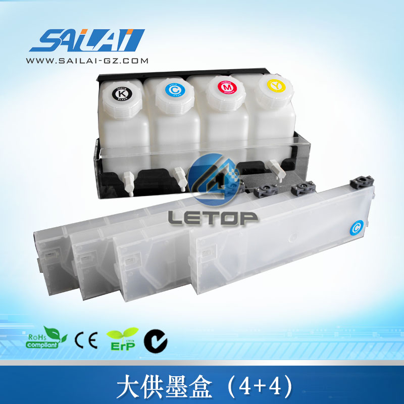 4 tanks 4 cartridge of ciss continuous ink system for inkjet printer