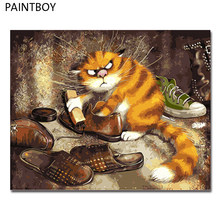 PAINTBOY Framed Pictures Painting By Numbers of Animal Handwork Canvas Oil Painting Home Decor For Living Room GX3221(China)