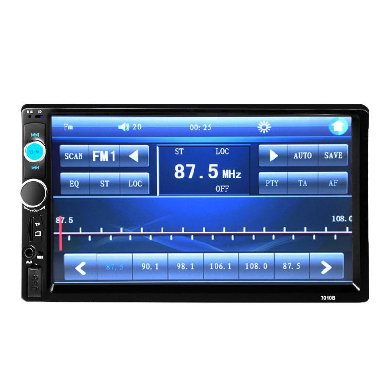 7 Inch LCD 2 DIN HD Car Radio MP5 Player In-Dash Touch Screen Bluetooth HD Rear View Camera Car Stereo FM + Wireless Remote New f6063b 7 inch hd touch screen 2din car in dash fm radio receiver bluetooth dvd cd player with wireless remote control