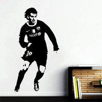 3D Vinyl Football Soccer Player Messi Wall Sticker Boys Bedroom Living Room Home Decor Famous Soccer